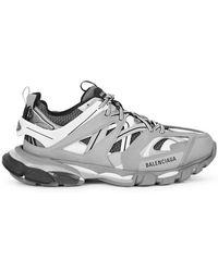 Balenciaga - Track Nylon And Mesh Trainers - Lyst