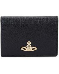 Vivienne Westwood   Balmoral Black Leather Card Holder   Lyst