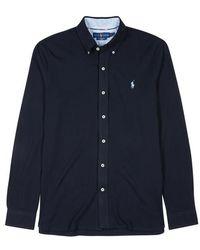 Polo Ralph Lauren - Navy Piqué Cotton Shirt - Lyst