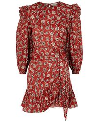 Étoile Isabel Marant - Telicia Printed Ruffle-trimmed Linen Dress - Lyst