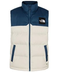 The North Face - Hd Nupste White Quilted Shell Gilet - Lyst