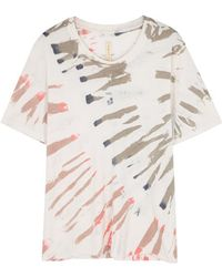 Raquel Allegra - Printed T-shirt - Lyst