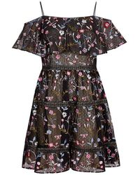 Adrianna Papell - Embroidery Party Dress - Lyst
