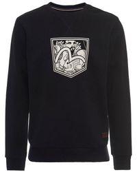 Evisu - Fisherman Seagull Pocket Print Sweatshirt - Lyst