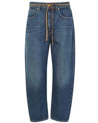 Levi's - Barrel Blue Cropped Boyfriend Jeans - Lyst