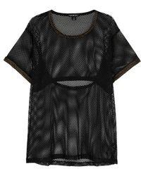 Koral Activewear | Vent-a-lation Black Mesh T-shirt | Lyst
