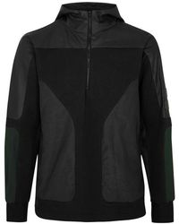 Tim Coppens - Black Panelled Cotton Blend Sweatshirt - Lyst