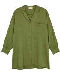 American Vintage - Yayowood Olive Twill Shirt - Lyst