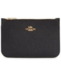 COACH - Black Leather Cardholder - Lyst