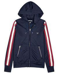True Religion - Navy Hooded Jersey Sweatshirt - Lyst