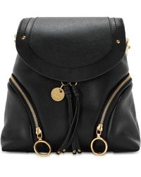See By Chloé - Olga Black Leather Backpack - Lyst