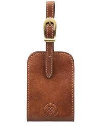 Maxwell Scott Bags - Full Grain Luxury Leather Luggage Tag In Tan - Lyst