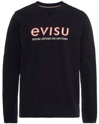 Evisu - Daicock And Logo Print T-shirt - Lyst