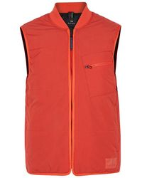 PS by Paul Smith - Layering Red Quilted Shell Gilet - Lyst