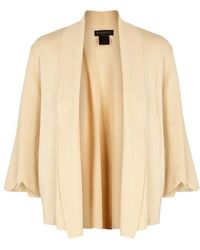 Donna Karan - Sand Ribbed Stretch-jersey Cardigan - Lyst