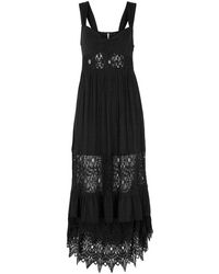 Free People - Caught Your Eye Lace-panelled Dress - Lyst