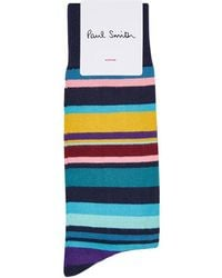Paul Smith - Bolog Striped Cotton Blend Socks - Lyst