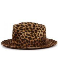 Satya Twena - Plaster Leopard-print Felt Fedora - Lyst