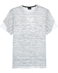 PS by Paul Smith - Monochrome Striped Cotton T-shirt - Lyst