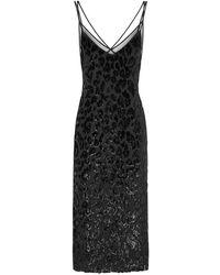 BOSS - Dudania Fil Coupé Midi Dress - Lyst