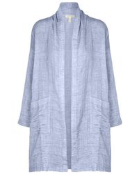 Eileen Fisher - Chambray Gauze Lightweight Jacket - Lyst