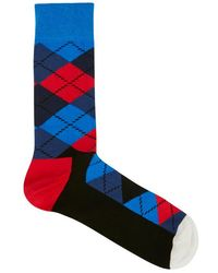 Happy Socks - Argyle Cotton Blend Socks - Lyst