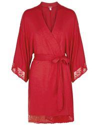 Eberjey - Colette The Mademoiselle Jersey Robe - Lyst