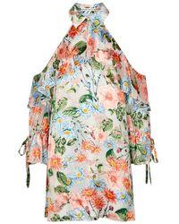 Alice + Olivia - Blayne Floral Silk Devoré Dress - Lyst