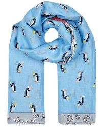 COACH - Sharky Printed Cotton-blend Scarf - Lyst