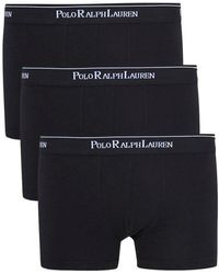 Polo Ralph Lauren - Black Boxer Briefs - Three Pack - Size L - Lyst