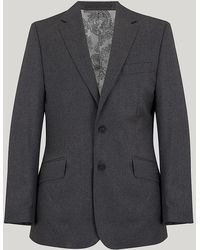 Harvie & Hudson - Grey Wool Contemporary Fit Suit - Lyst