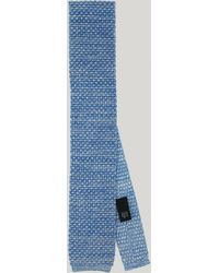 Harvie & Hudson - Sky Melange Knitted Silk Tie - Lyst