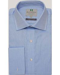 Harvie & Hudson - Blue Royal Oxford Double Cuff Shirt - Lyst