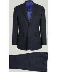 Harvie & Hudson - Light Navy Birdseye Merino Wool Suit - Lyst