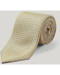 Harvie & Hudson - Yellow Angel Fish Silk Tie - Lyst