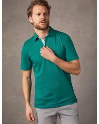 44b043a54 HUGO Demons Slim Fit Mercerised Long Sleeve Polo Shirt In Navy in Blue for  Men - Lyst
