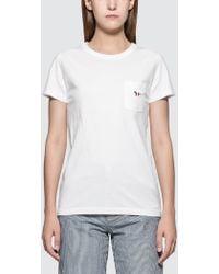 Maison Kitsuné - Tricolor Fox Patch Short Sleeve T-shirt - Lyst
