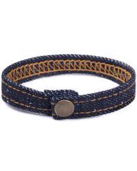 Mister - Denim Bracelet - Lyst