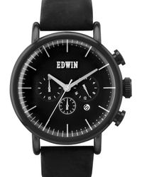 Edwin - Black With Black Leather Band Element - Lyst