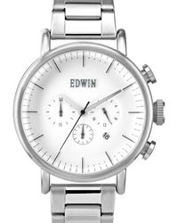 Edwin - Silver With White Dial Element - Lyst