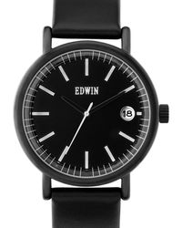 Edwin - Black With Black Leather Band Epic - Lyst