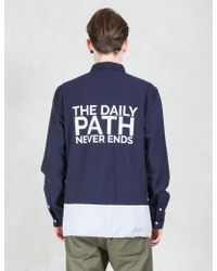 Daily Paper - Panel Shield Logo Shirt - Lyst