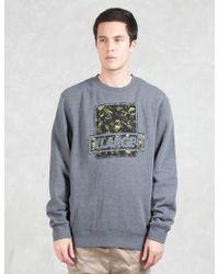 X-Large - Camo Fill Crewneck Fleece Sweatshirt - Lyst