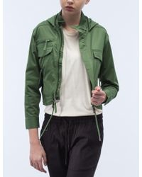 Timberland - Lynn Cropped M-65 Hooded Jacket - Lyst
