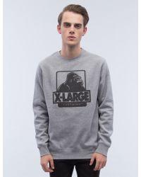 X-Large - Og Logo Crewneck Fleece Sweatshirt - Lyst