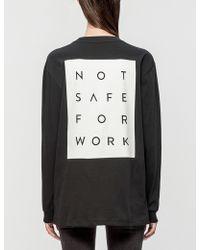 NSFW Clothing   Blocked Ls T-shirt   Lyst