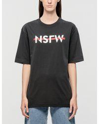 NSFW Clothing - Strikethrough T-shirt - Lyst