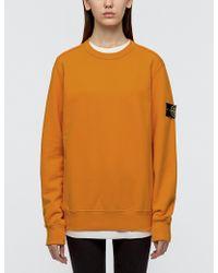 Stone Island - Classic Fleece Sweatshirt - Lyst