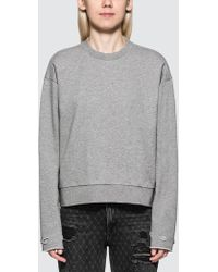 Alexander Wang - Dry French Terry Distressed Sweatshirt - Lyst