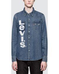 597d06ab73 Lyst - Levi s 1955 Sawtooth Bullwhacker Sportshirt in Blue for Men